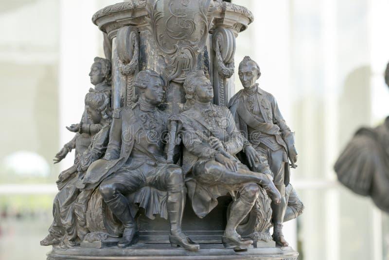 Petersburg, Russland - 29. Juni 2017: Katherine-` s Palasthalle in Tsarskoe-Dorf Denkmal zu Catherine II lizenzfreie stockfotografie