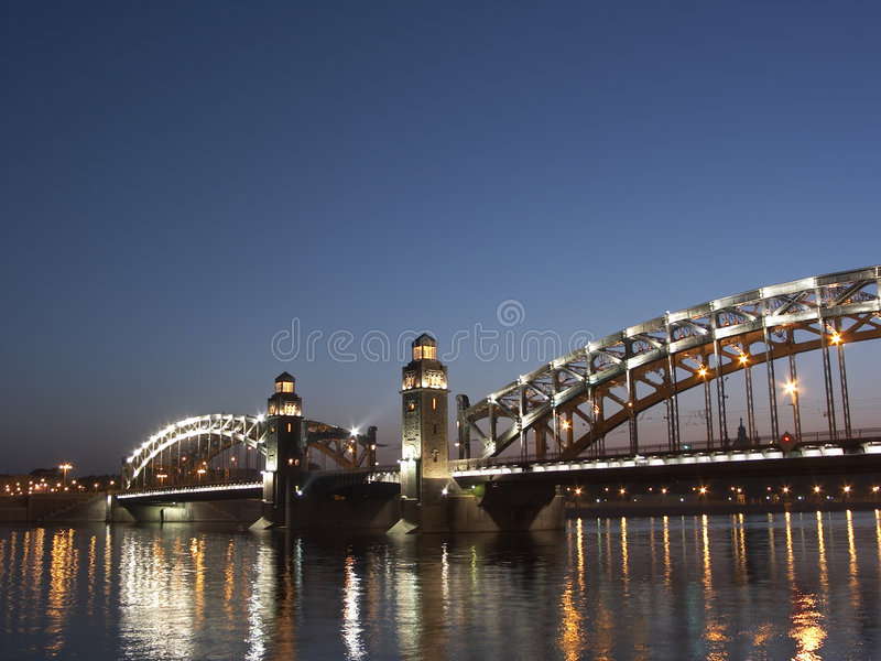 Petersburgu saint biel nocy fotografia royalty free