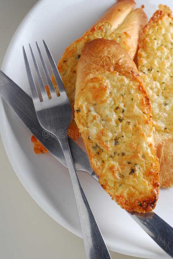 Petersilie Knoblauch-Brot lizenzfreie stockfotografie