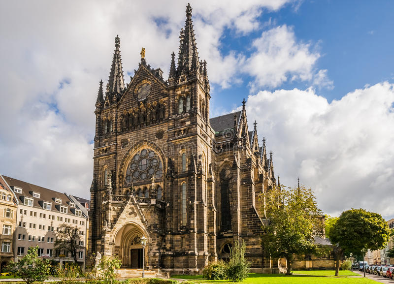 Peterskirche in Lipsia fotografie stock libere da diritti