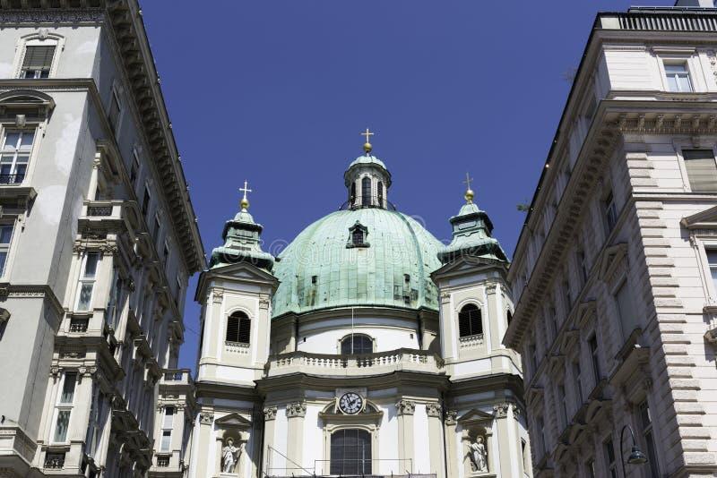 Peterskirche, Viena foto de archivo libre de regalías
