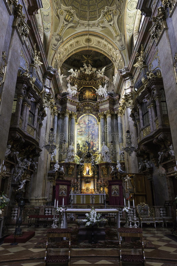 Peterskirche, Viena imágenes de archivo libres de regalías