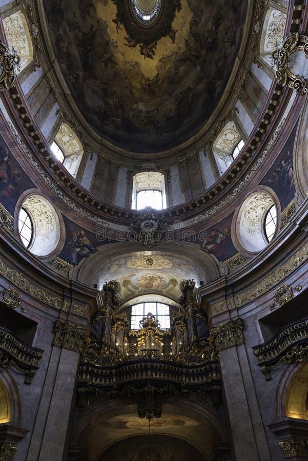 Peterskirche, Viena imagen de archivo