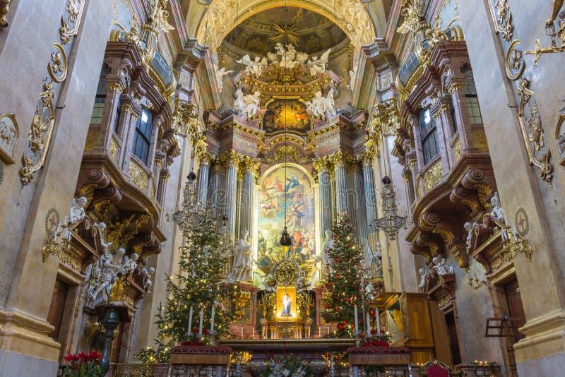Peterskirche, Vienna, Austria fotografia stock libera da diritti