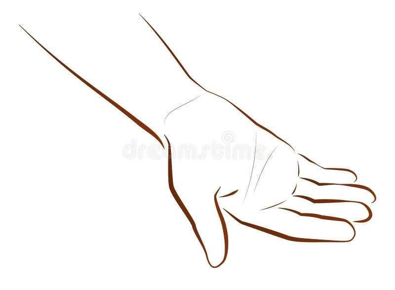 Petición de la mano ilustración del vector