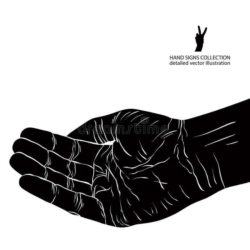 Petición de la mano, ejemplo detallado del vector libre illustration