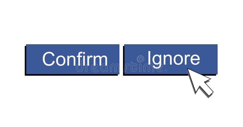 Petición del amigo de Facebook ilustración del vector