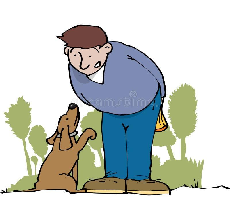 Petición del perro stock de ilustración