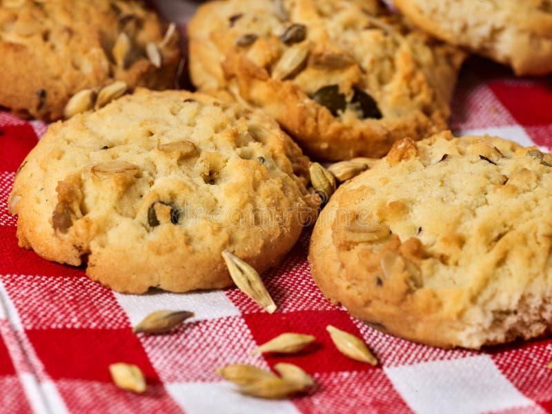 Petisco das cookies de farinha de aveia foto de stock royalty free