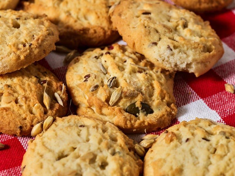 Petisco das cookies de farinha de aveia imagens de stock