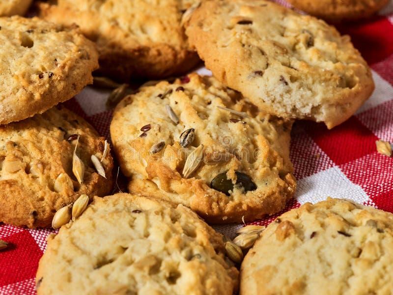 Petisco das cookies de farinha de aveia imagem de stock