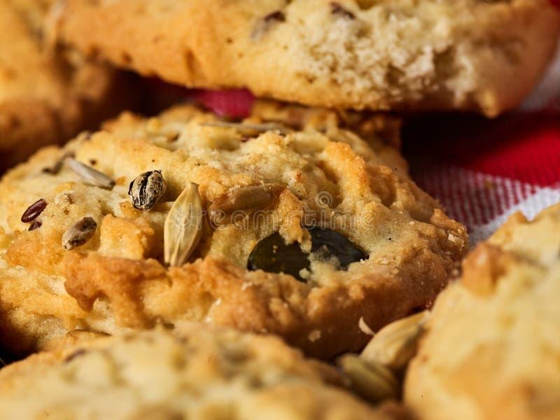 Petisco das cookies de farinha de aveia fotografia de stock