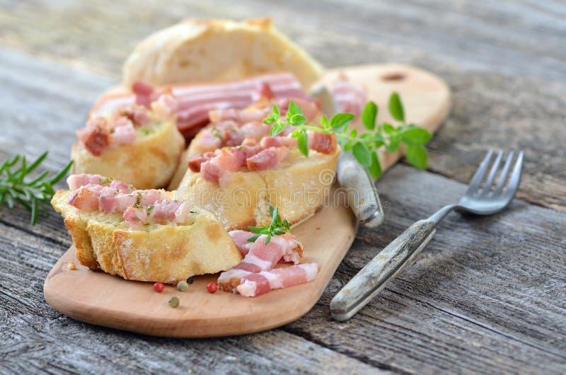 Petisco do bacon imagens de stock royalty free