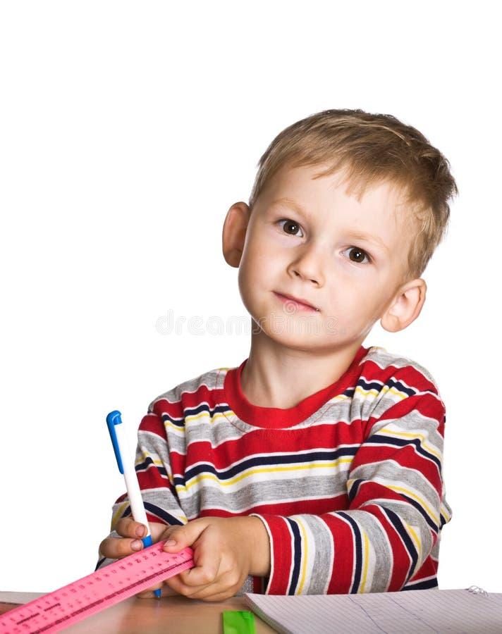 Petit écolier image stock