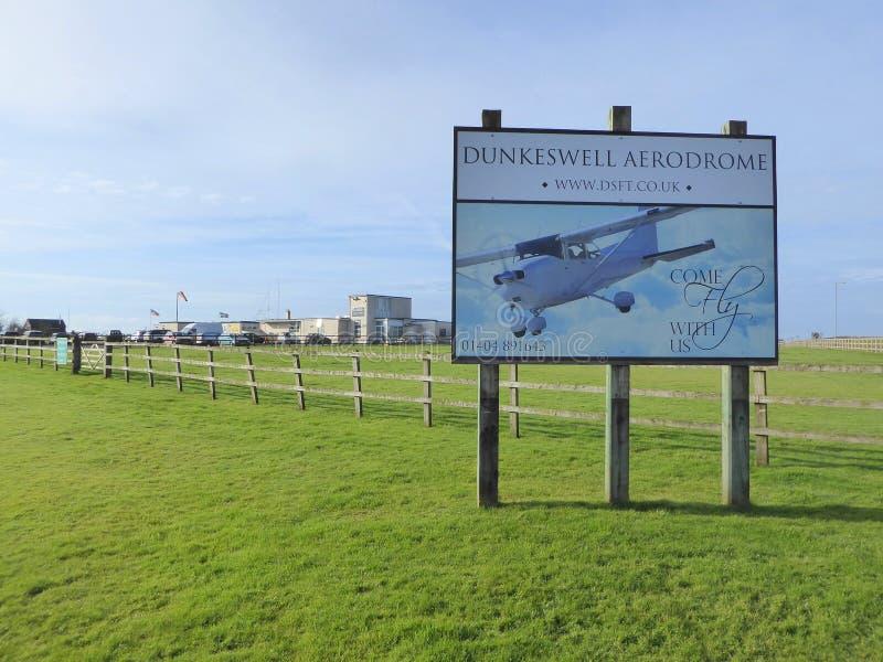 Petit aérodrome privé en Angleterre photo libre de droits