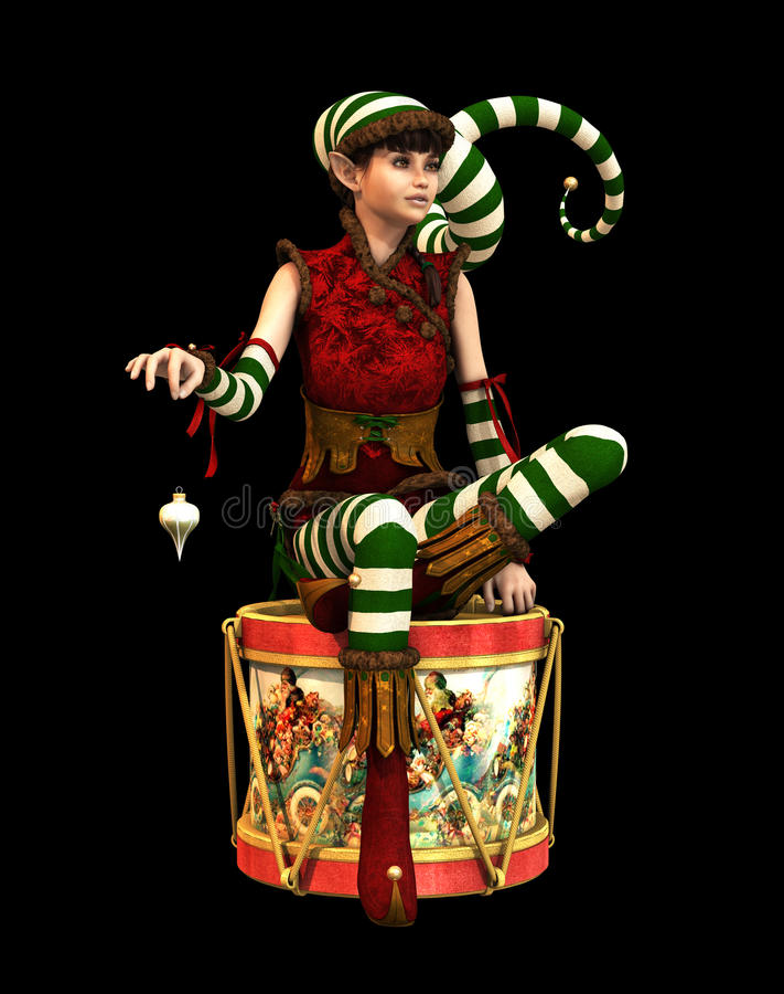 Petit aide Katie CA, 3d CG. de Santa illustration stock