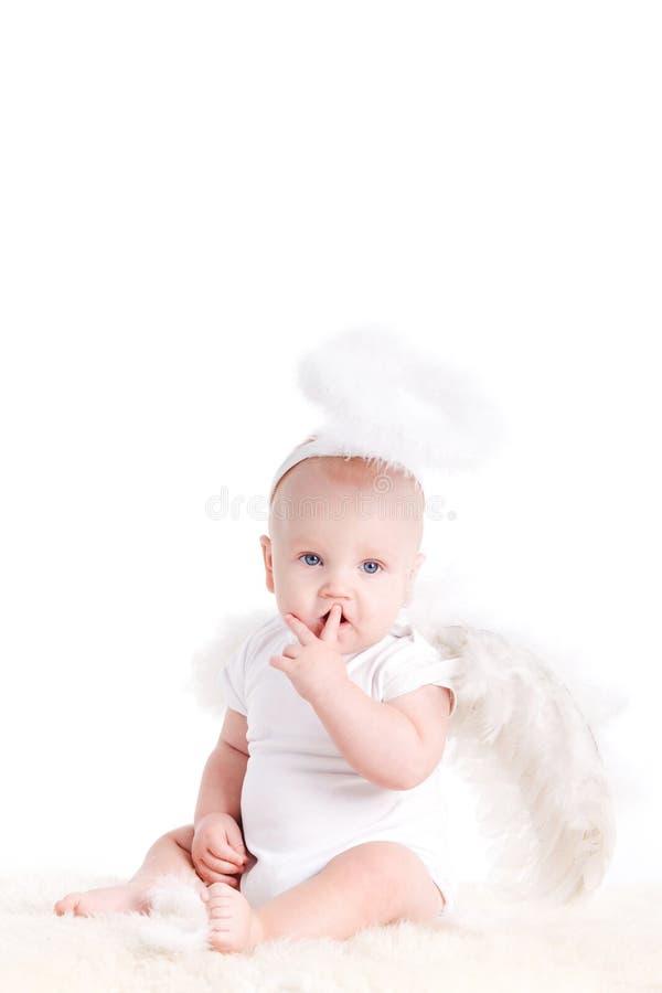 Petit ange blanc images libres de droits