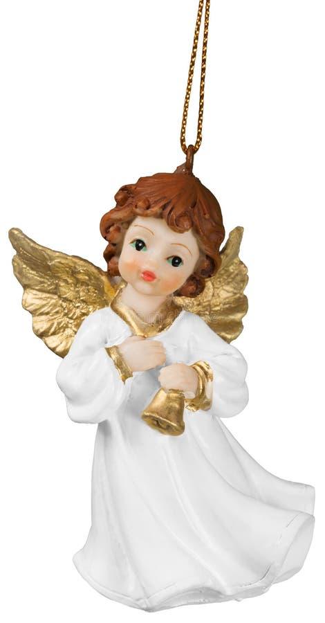 Petit ange décoratif sur le fond brouillé images stock