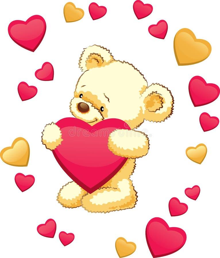 Petit animal d'ours illustration de vecteur