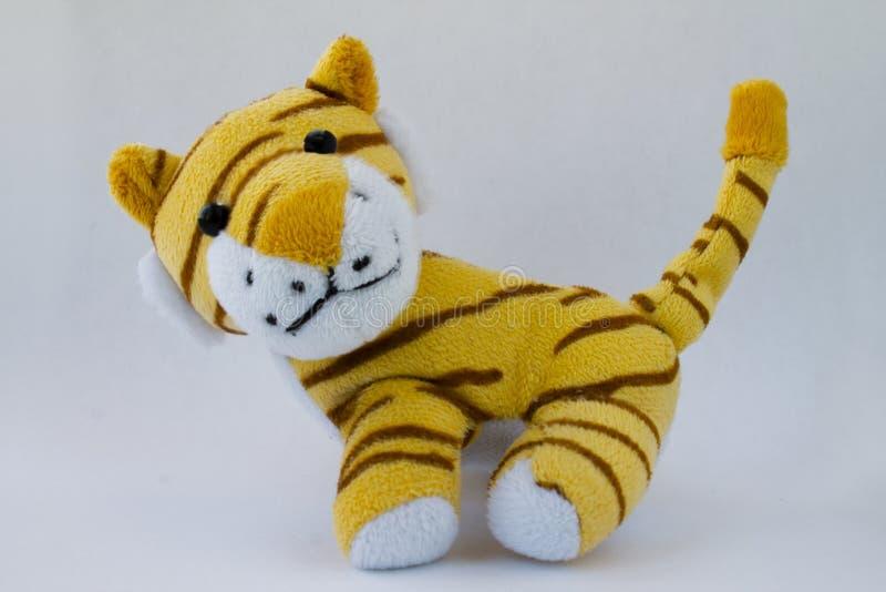 Petit animal de tigre mou de jouet images libres de droits