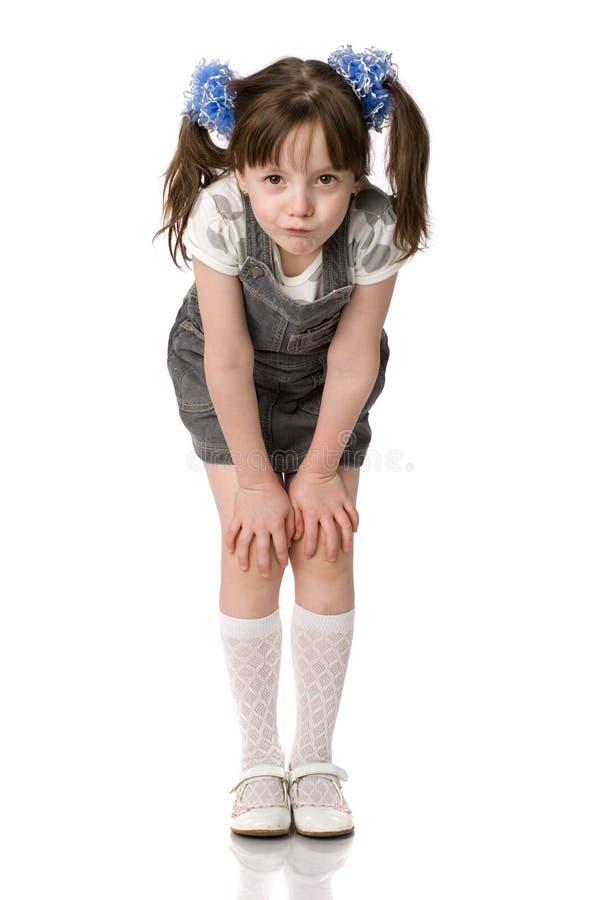 petit arrière de verticale de poney de fille photos libres de droits