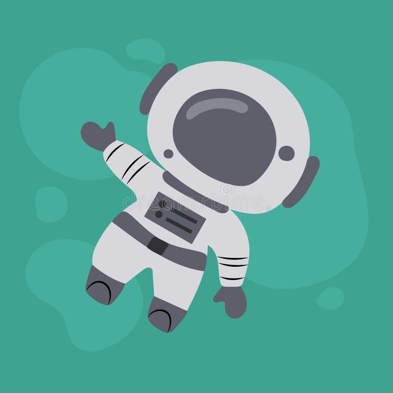 Petit astronaute mignon Illustration tir?e par la main de vecteur illustration libre de droits