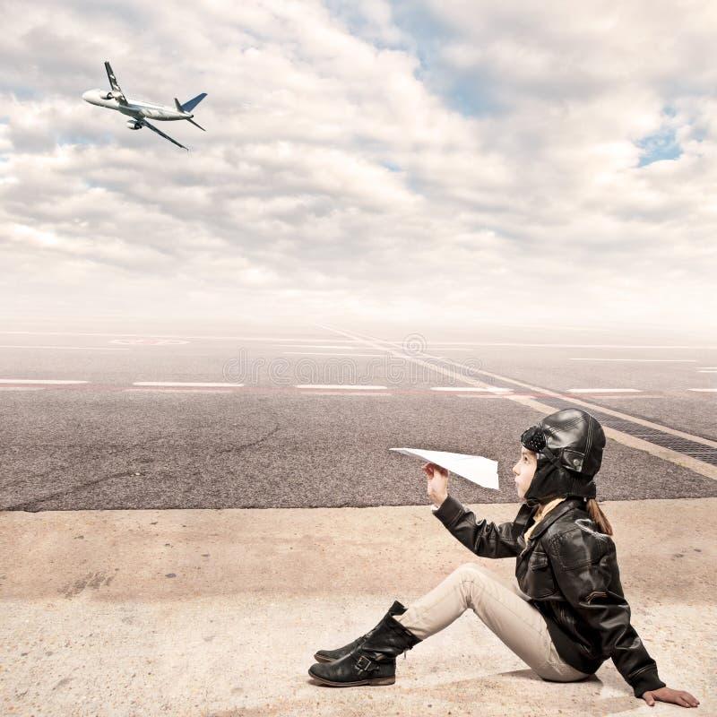Petit aviateur photo stock