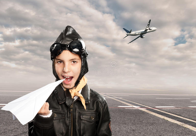 Petit aviateur photos stock