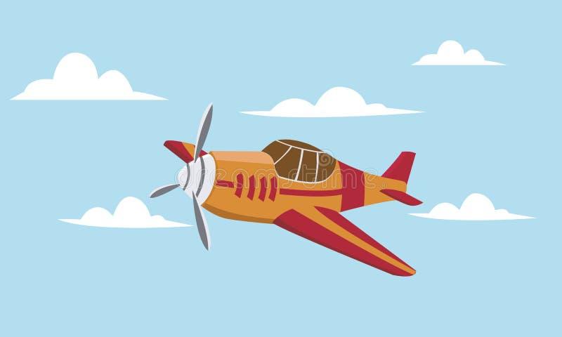 Petit avion illustration de vecteur