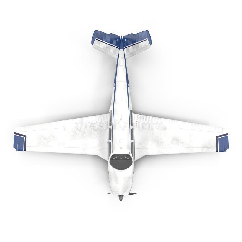 Petit avion privé d'isolement sur le blanc illustration 3D illustration libre de droits