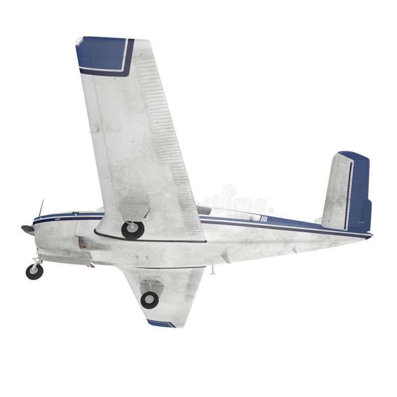 Petit avion privé d'isolement sur le blanc illustration 3D illustration stock