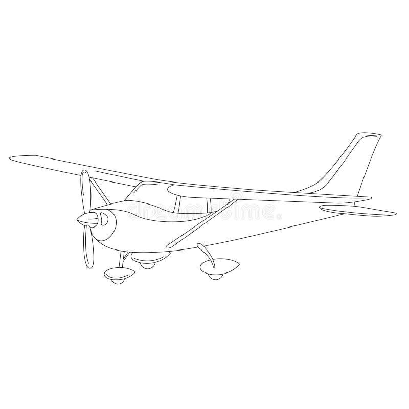 Petit avion privé, illustration de vecteur, illustration stock