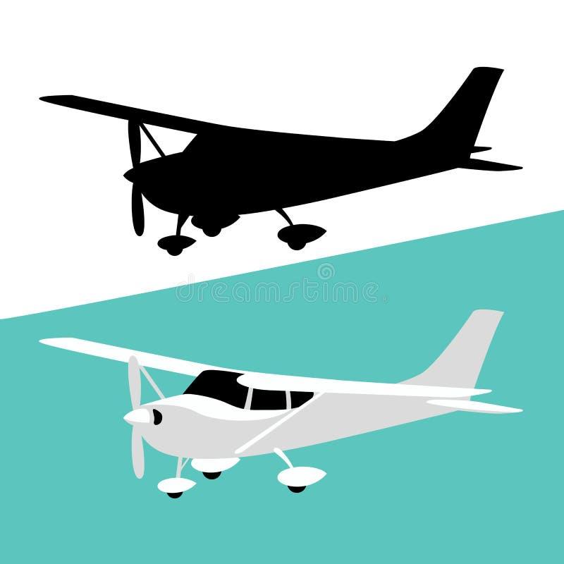 Petit avion privé, illustration de vecteur, illustration de vecteur