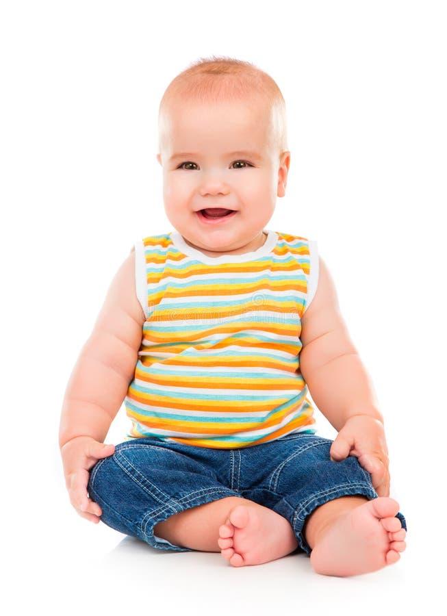 Petit bébé heureux photo stock