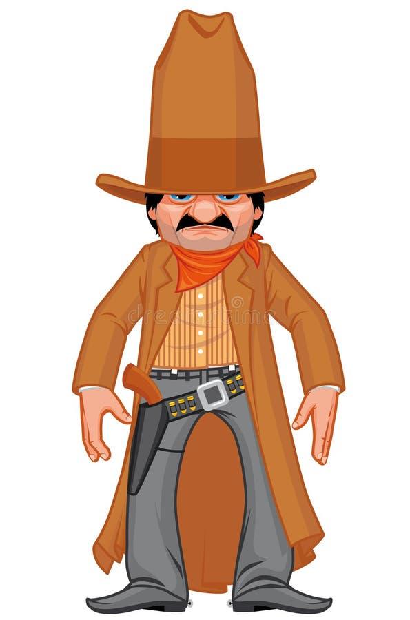 Petit bandit armé occidental illustration de vecteur