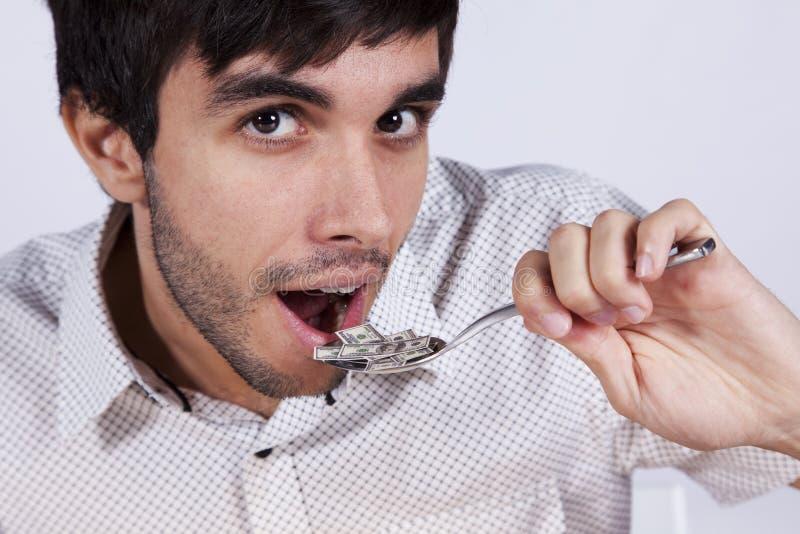 Petit billet de banque mangeur d'hommes du dollar photo libre de droits