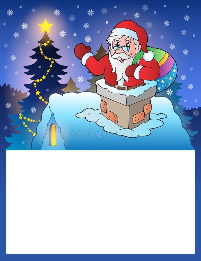 Petit cadre avec Santa Claus 4 illustration de vecteur