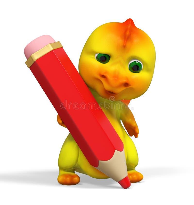 Grand Et Petit Crayon De Conception Avec La Gomme