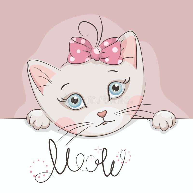 Petit chaton mignon illustration libre de droits