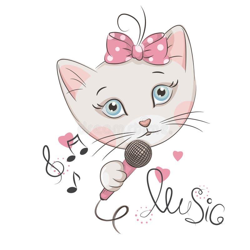 Petit chaton mignon illustration de vecteur
