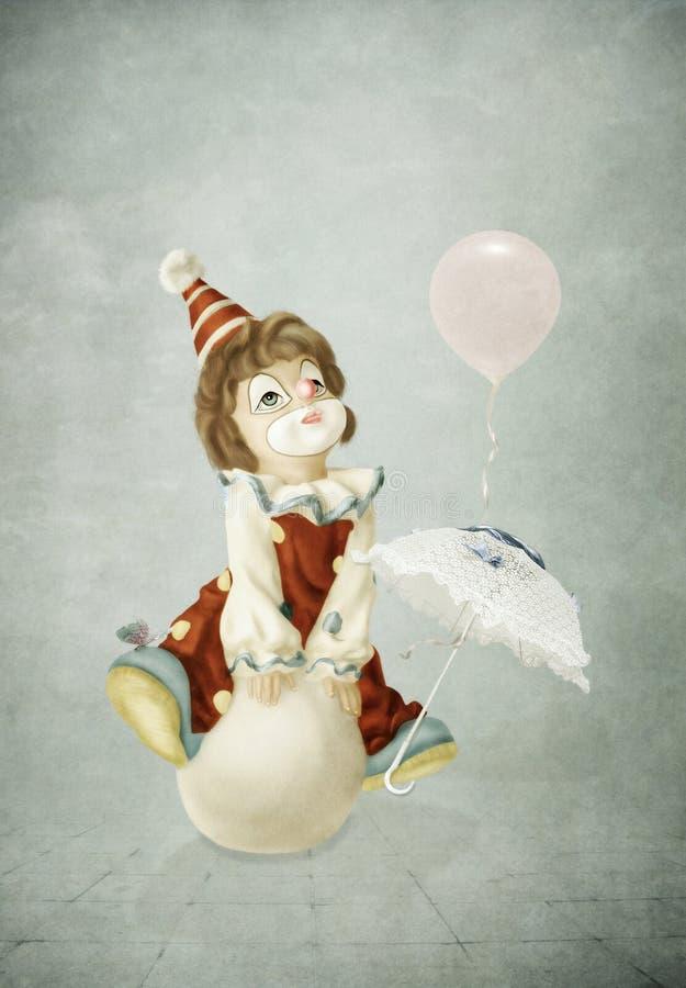 Petit clown illustration stock