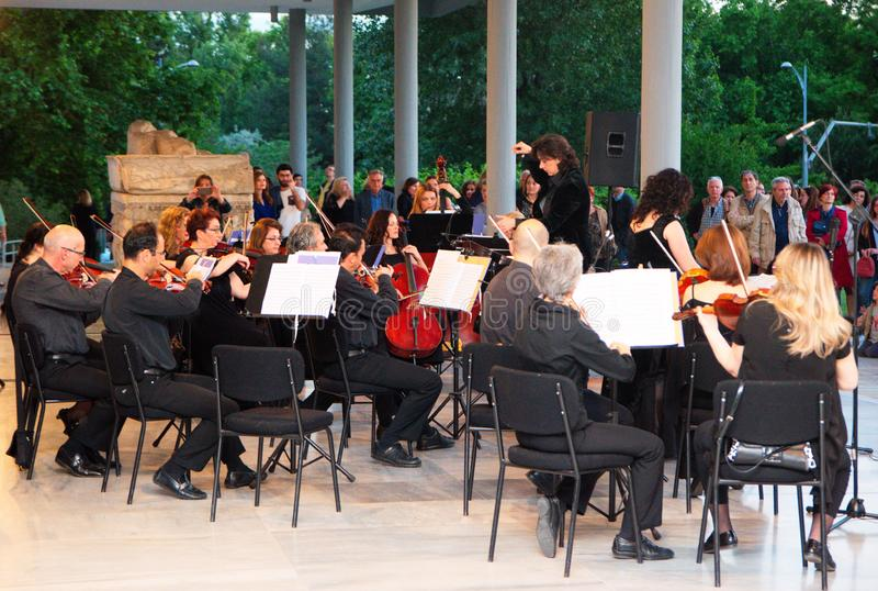 Petit concert de musique classique image stock