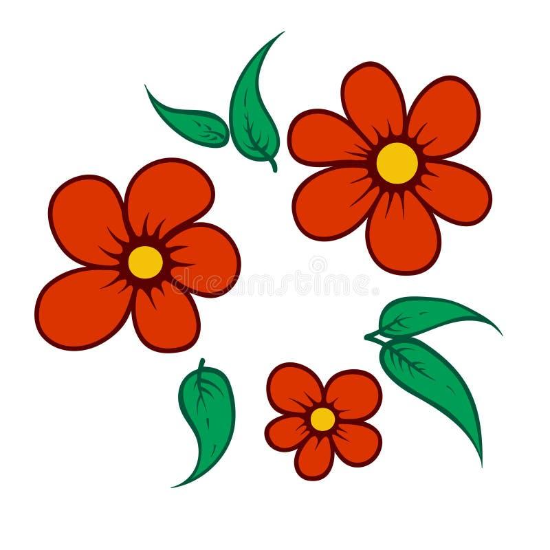 petit corsage simple des fleurs Illustration illustration de vecteur