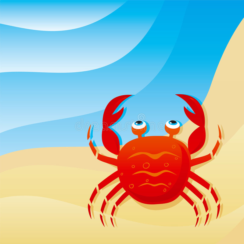 Petit crabe mignon illustration stock