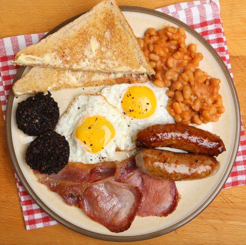 Petit déjeuner cuit le plein par anglais d'en haut photographie stock libre de droits