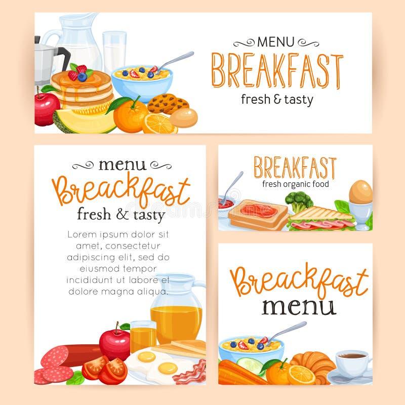 Petit déjeuner de menu illustration stock