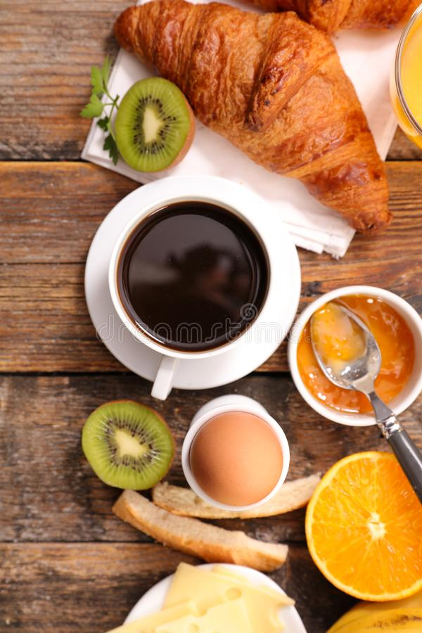 Petit déjeuner ou brunch sain images libres de droits