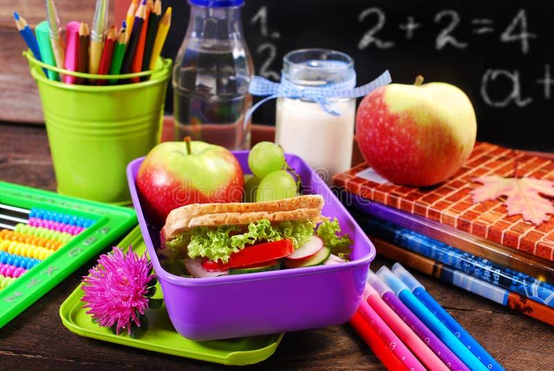 Petit déjeuner sain pour l'école photographie stock libre de droits