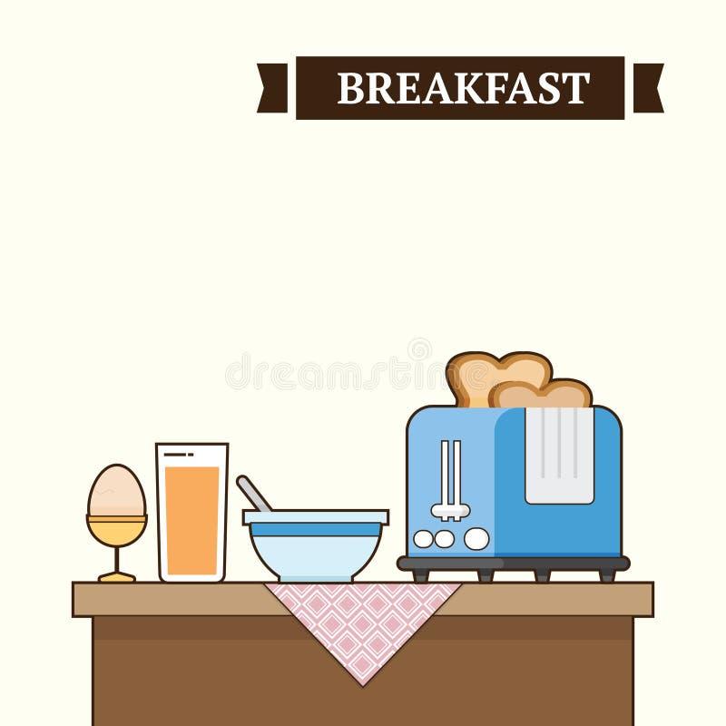 Petit déjeuner sur la table photo stock