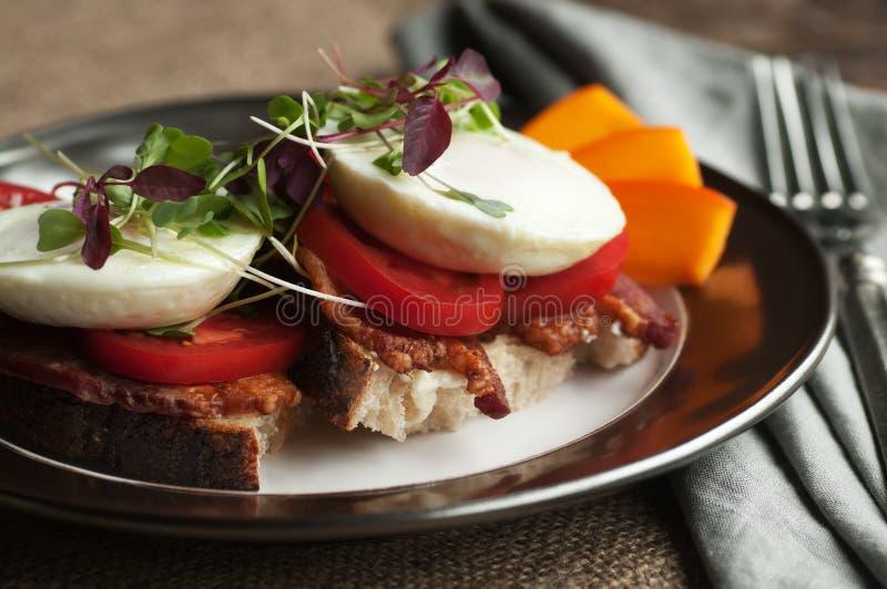 Petit déjeuner Tartine photos stock